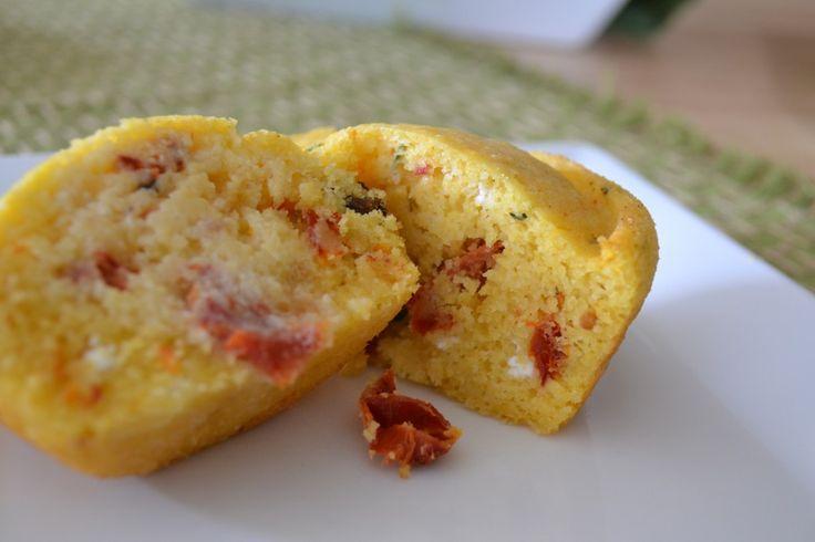 Sun-Dried Tomato & Feta Cornbread Muffin --> fine but my edit: jiffy ...