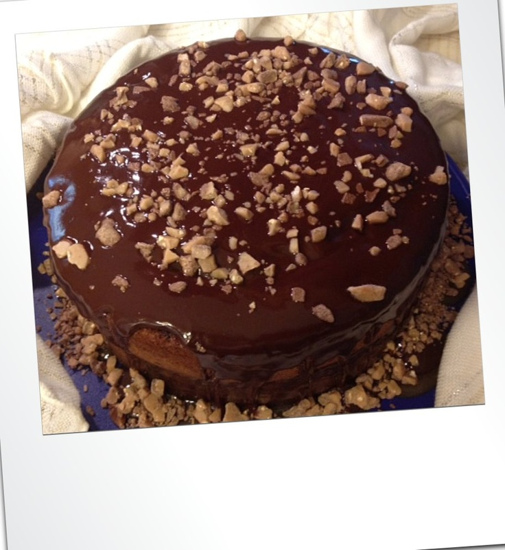 Awesome cake with HOMEMADE butterscotch filling. Next birthday must ...