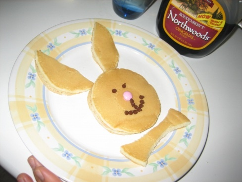 Cute Easter Bunny Pancakes