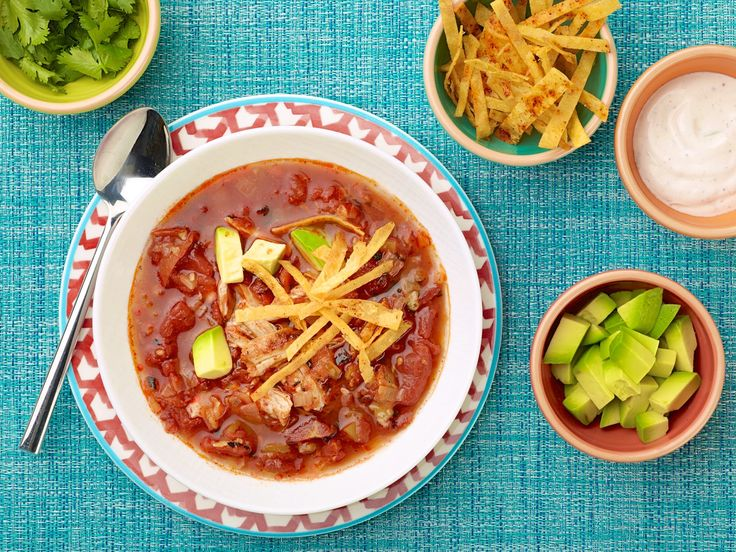 Grilled Chicken Tortilla Soup with Tequila Crema Recipe : Guy Fieri ...