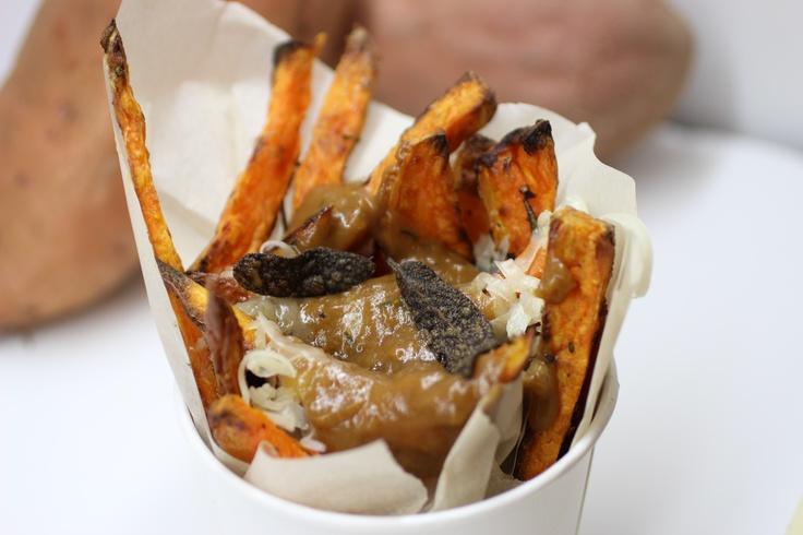 Sweet Potato Poutine with Porcini Mushroom Gravy recipe by ...