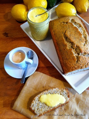 Lemon Poppy Seed Bread with Fresh Lemon Curd | Foods to try ...