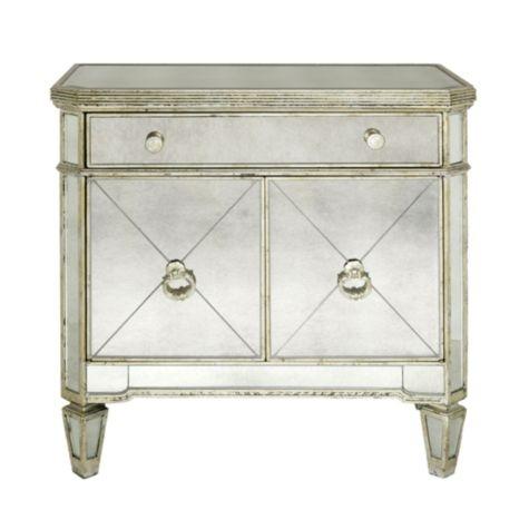 Mirrored nightstand dream home pinterest for Mirror nightstand