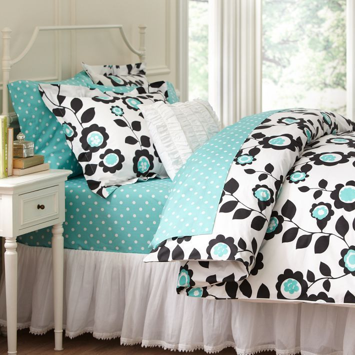 Teal Black White Guest Bedroom Floral Pink Teal Pinterest