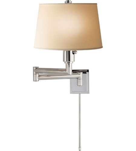 Visual Comfort E.F. Chapman Chunky 1 Light Swing-Arm Wall Light in Po…
