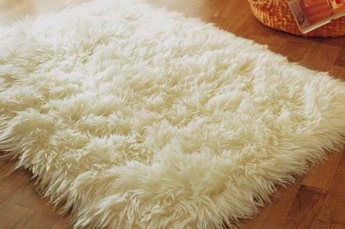 ivory sheepskin rectangle faux fur rug 2x4