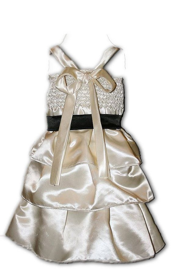Flower Girl Dresses Ivory And Black 30