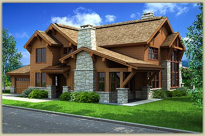 Another craftsman style cabin cabin ideas pinterest for Craftsman log homes