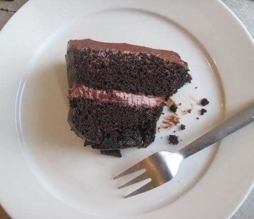 Chocolate mayonnaise cake. Sounds gross but evidently the mayo makes ...