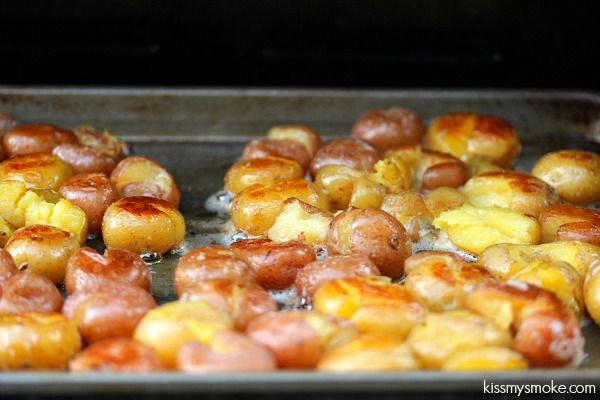 Grilled Smashed Potatoes | kissmysmoke.com | #grill #bbq #potatoes # ...