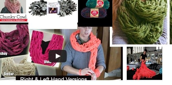 Arm knitting fast and easy patterns and tutorials