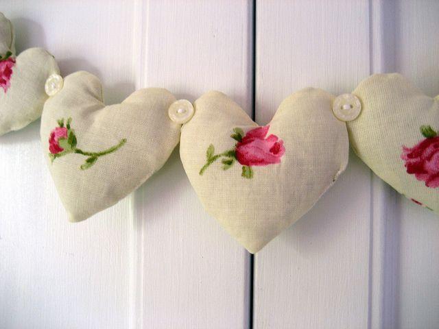 corazones rosa