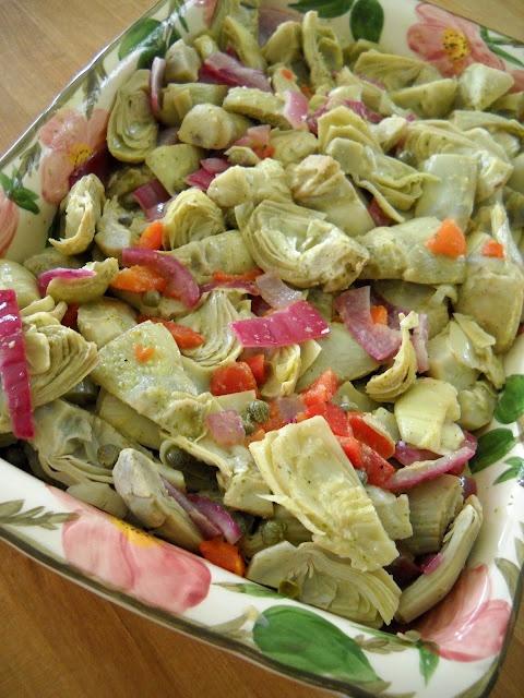 Artichoke Salad with Lemon Basil Vinaigrette