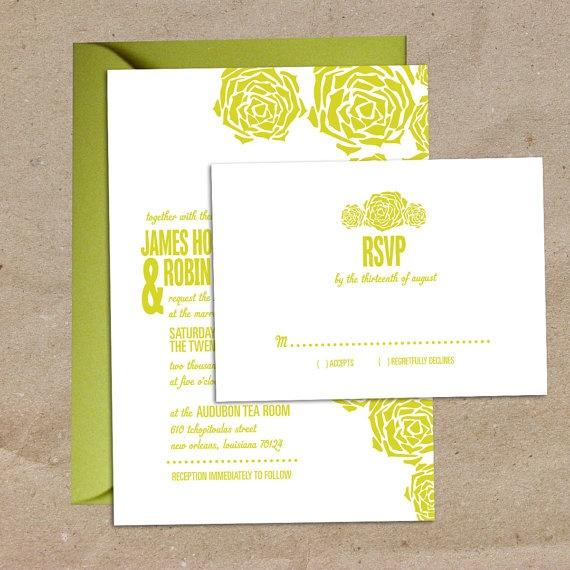 Succulent wedding invitations