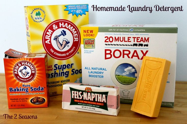 Homemade dry laundry detergent
