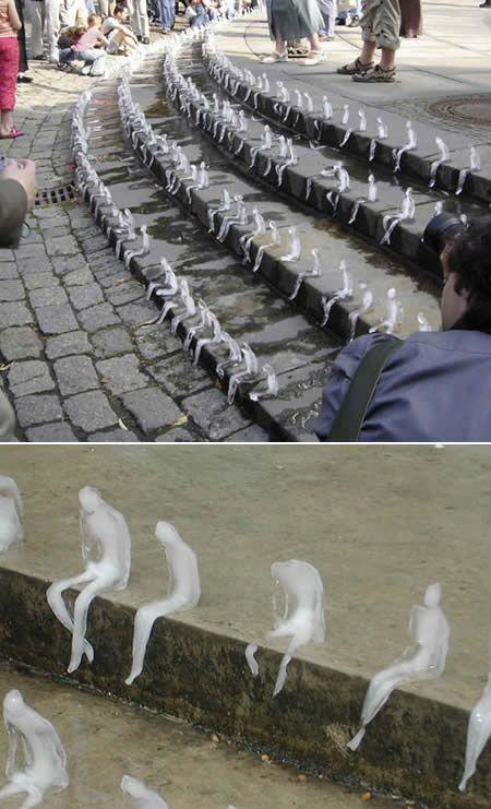 *Azevedo's Ice Sculptures of Melting Men