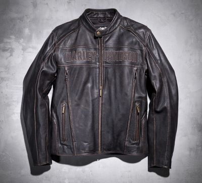Roadway Leather Jacket in Distressed Brown