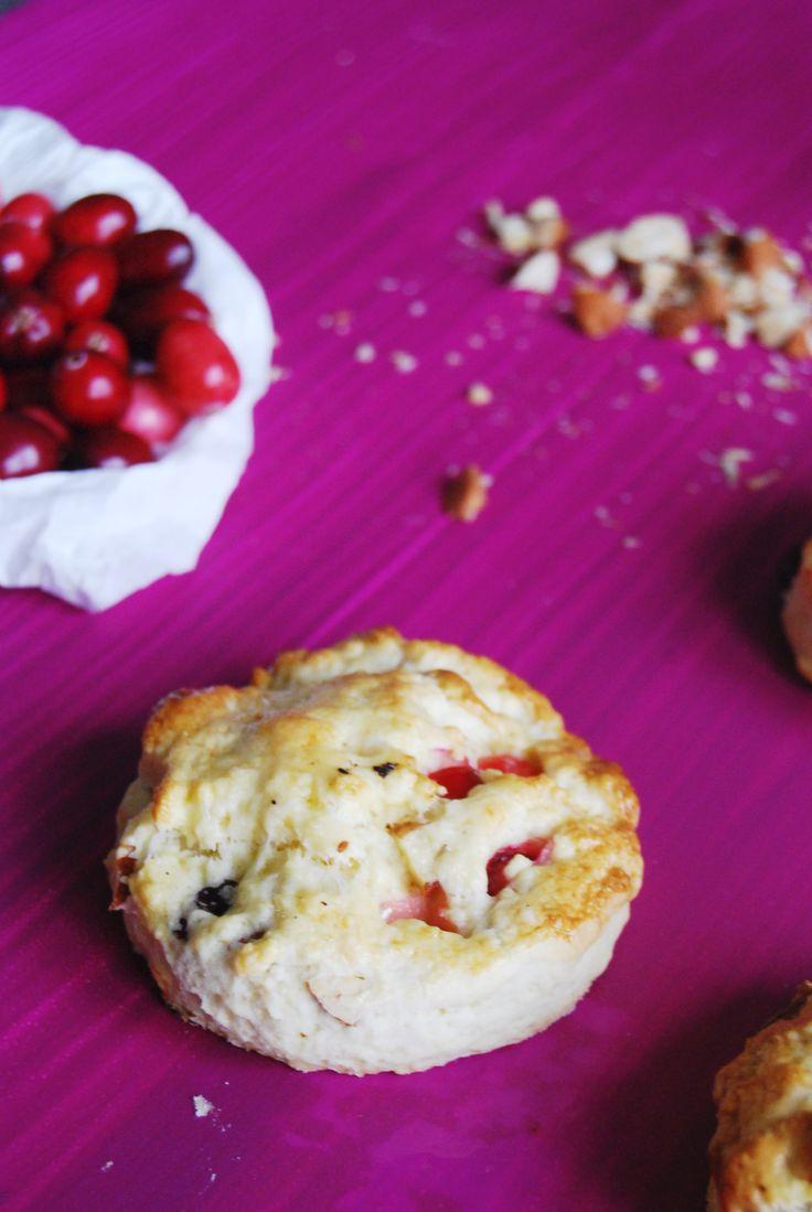 Scones canneberges & amandes - Almond & cranberry scones