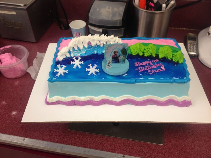 baskin robbins frozen theme cake party invitations ideas