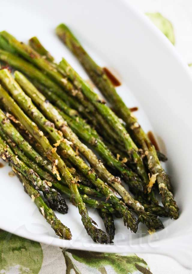 Baked Asparagus With Parmesan And Balsamic Vinegar Recipe ...