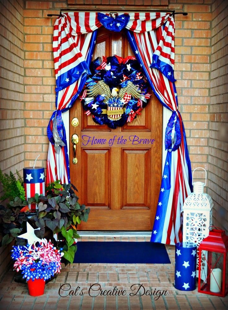 4th Of July Door D Cor Cat 39 S Holiday Home Decor 4th