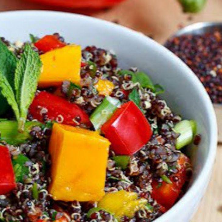 Thai Style Black Quinoa Salad Recipe | Love Healthy Food...Vegan | Pi ...