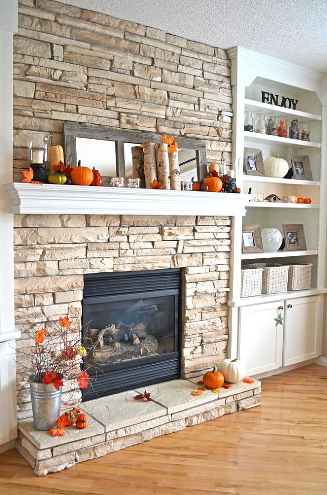 Simple & Pretty Fall Mantel!