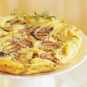 Grilled Onion Frittata from Williams-Sonoma...nice brunch dish and ...