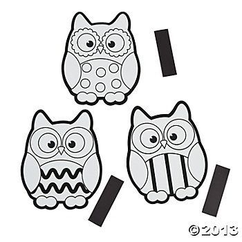 Color your own owl magnets the colorful owl story