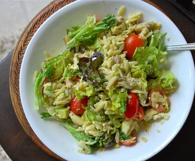 Super Quick Weeknight Dinner: Chicken Orzo Salad | C'est la vie