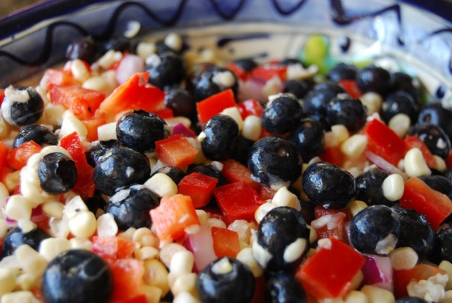 corn-blueberry salad by yourhomebasedmom, via Flickr