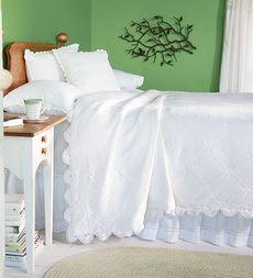 Hand-Crocheted Cotton Victorian Bedding
