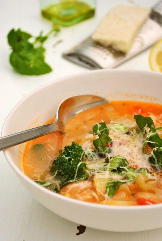... , broccoli, garlic, carrots, red onion, tomato, red bell pepper