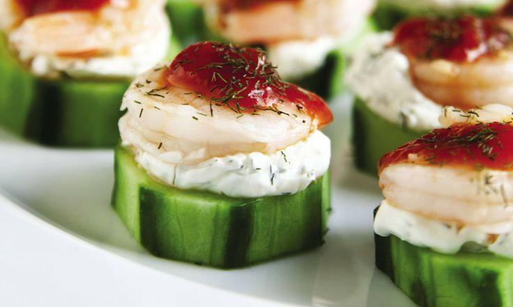 Shrimp Cocktail Cucumber Bites | Recipe