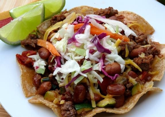 Chipotle Beef Tostadas Recipe from: Food Network Magazine |