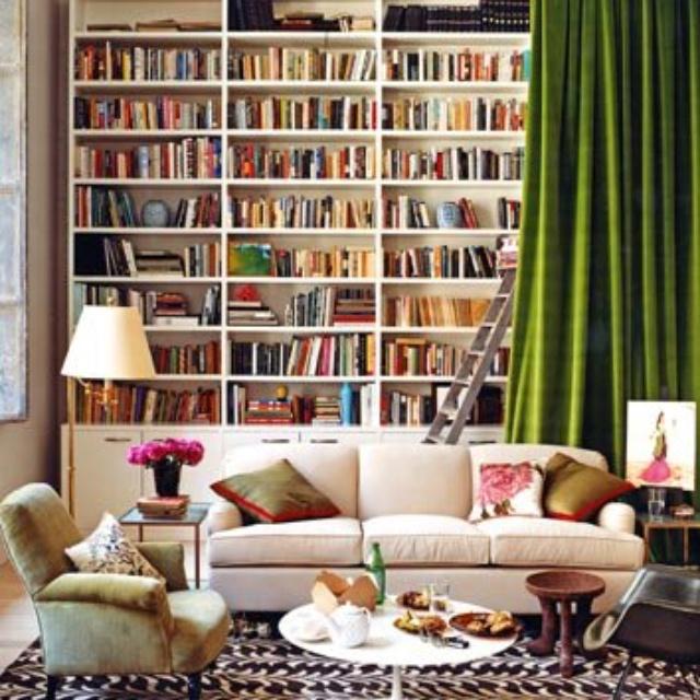living room bookshelves dream house pinterest