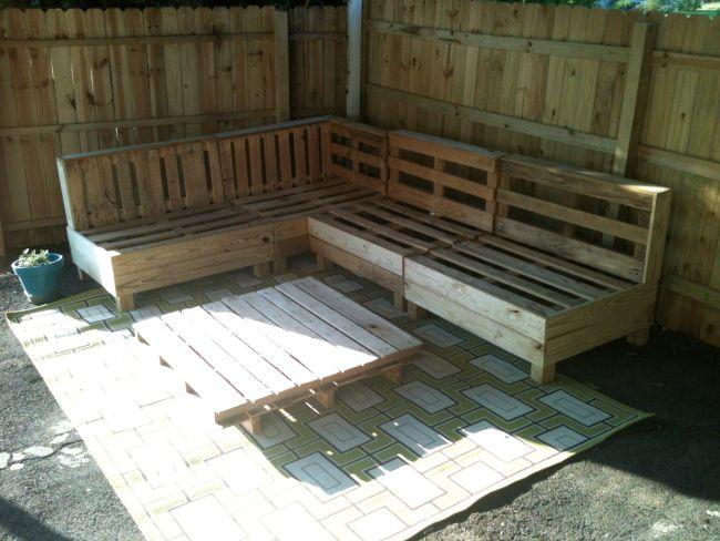Outdoor pallet sofa modern backyard pinterest for Sofa exterior palets