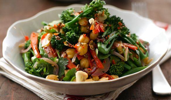 Atul Kochhar's Warm Salad of Tenderstem® and Chickpeas #warm #salad ...