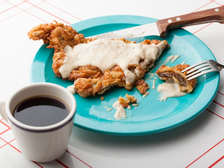 Chicken Fried Steak with Cream Gravy from CookingChannelTV.com. My ...