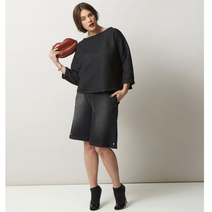 William Carnimolla Ali Tate mode grandes tailles plus-size fashion black sweater and culottes