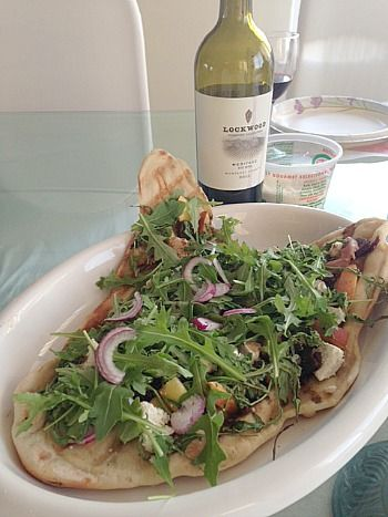 Grilled Pizza with Figs, Prosciutto, Peaches & Arugula (from I Was ...