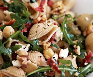 Whole Wheat Shells with Chickpeas and Arugula (one of my fave recipes)