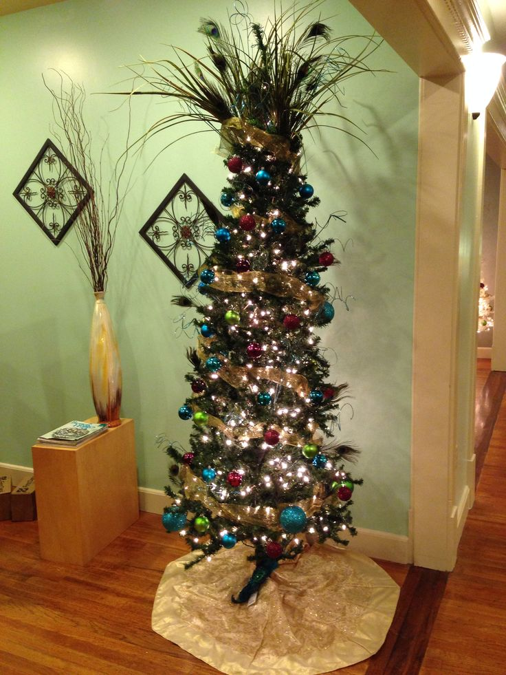 Christmas Trees Decorated With Peacocks : Pin by troy golden on decor