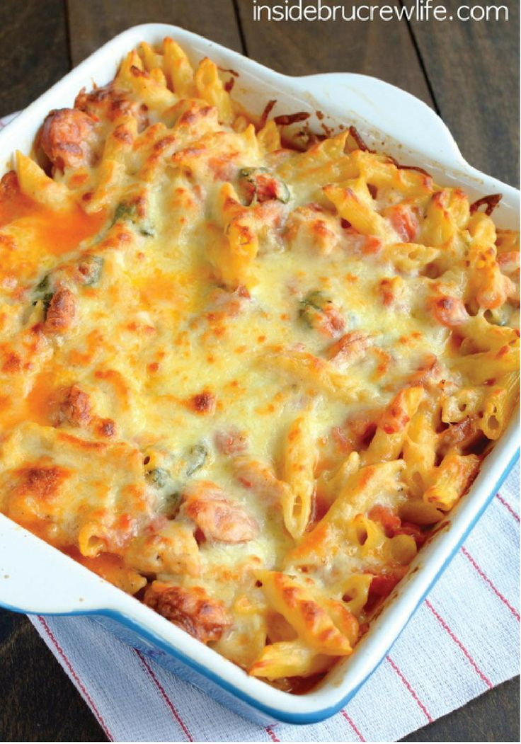 Chicken Sausage Pasta Bake – Looking for a delicious dinner recipe ...