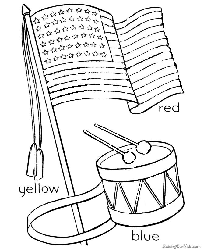 4th of july coloring pages free to print