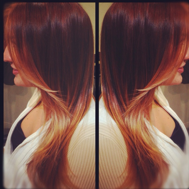 Strawberry Ombré hair | HAIR | Pinterest