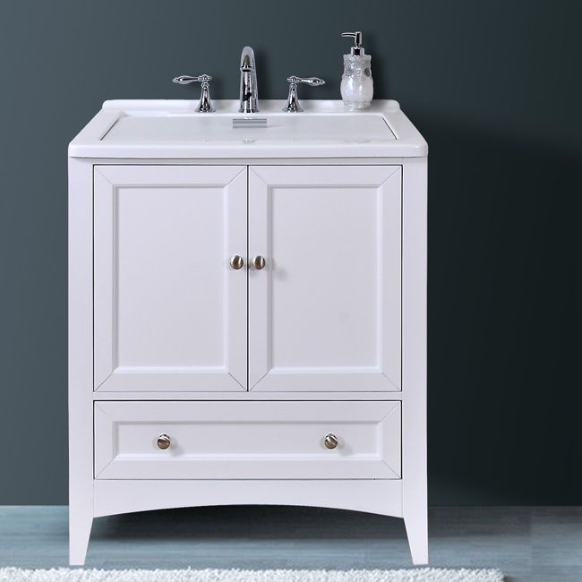 Utility Sink With Vanity : This All-in-One Laundry Sink Vanity by Stufurhome, embellished in a ...