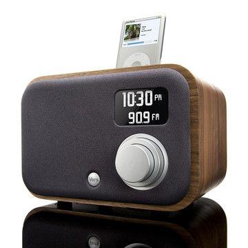 1.5R Sound System Walnut  by Vers Audio: AM/FM radio with iPod playback.  #Radio #Vers_Audio