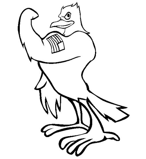 eagle cartoon coloring pages - photo #5