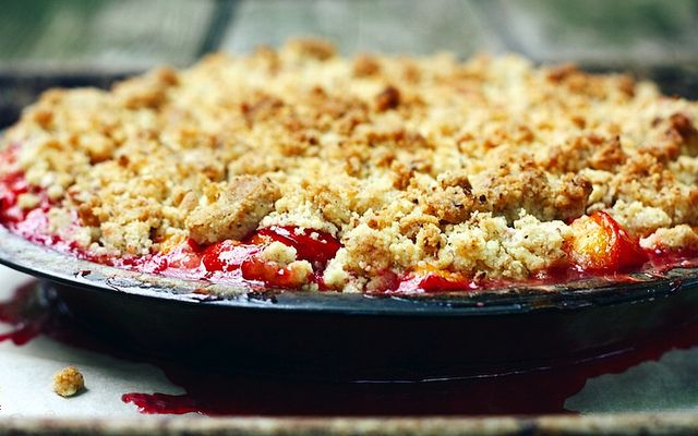 Brown butter plum cobbler...recipe | Food | Pinterest